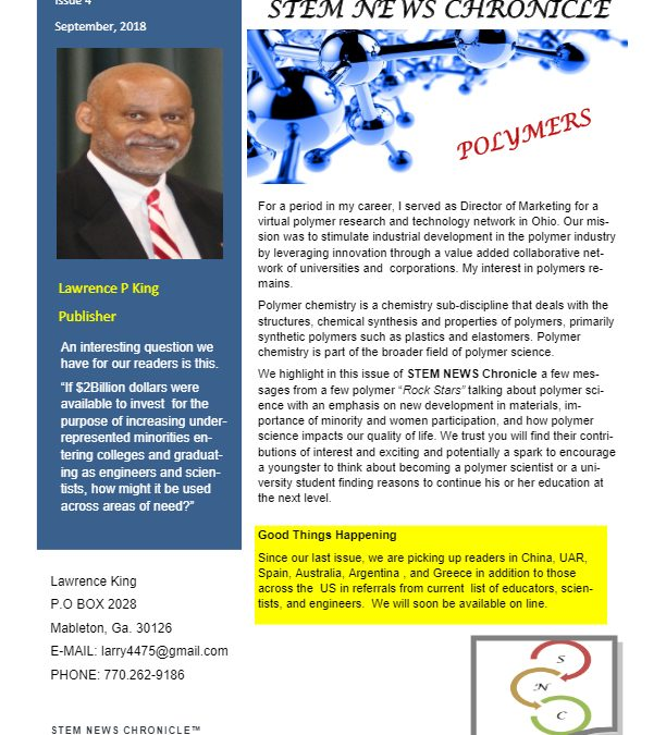 2018 STEM NEWS Vol 7 Issue 4