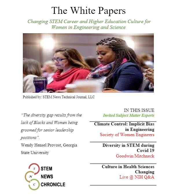 2021 White Paper Issue 01 – Changing STEM Career and Higher Education Culture for Women in Engineering and Science